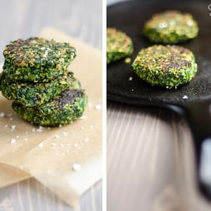 Spinach, Fava Bean, and Quinoa Cakes
