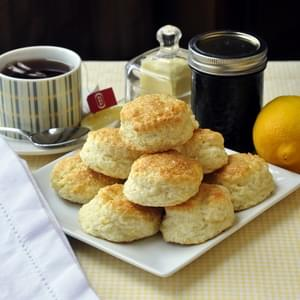 Lemon Sour Cream Tea Biscuits