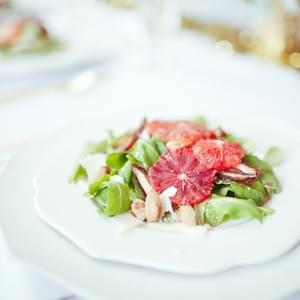 Arugula Salad with Blood Oranges, Dates & Almonds