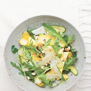 Shaved Zucchini Salad with Almonds & Asiago