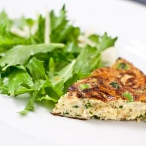 Broccoli Rabe and Caramelized Onion Frittata
