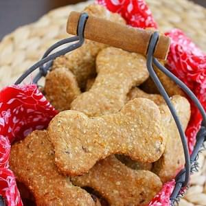 Homemade Peanut Butter & Bacon Dog Treats