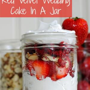 Red Velvet Wedding Cake In A Jar