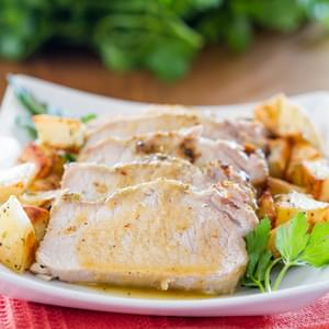 Lemon Garlic Roasted Pork Loin