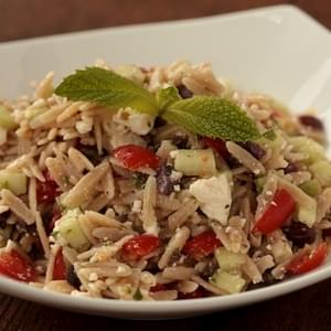 Whole Wheat Greek Orzo Salad