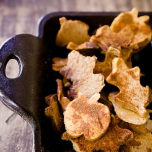 Homemade Apple Chips in Fun Fall Shapes