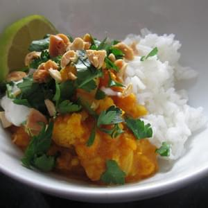 Red Lentil Dal with Cauliflower