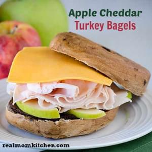 Apple Cheddar Turkey Bagels