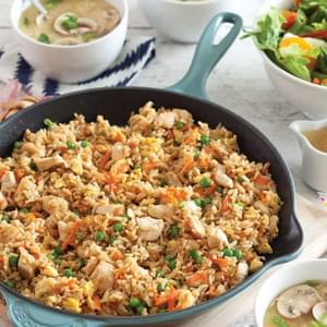 Chicken Sausage Brown Rice Stuffing with Celery and Mushrooms Recipe