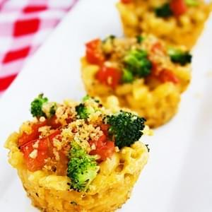 Roasted Vegetable Macaroni & Cheese Cups