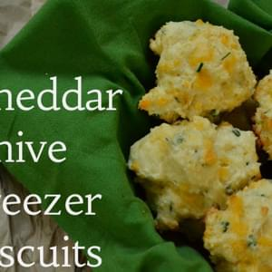 Cheddar Chive Freezer Biscuits