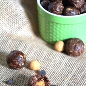 Chocolate Peanut Butter Cup Protein Bites