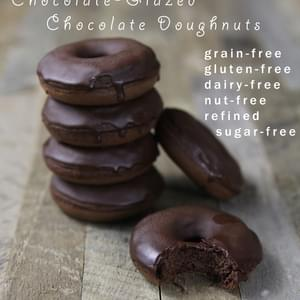 Chocolate-Glazed Chocolate Doughnuts (nut-free!)