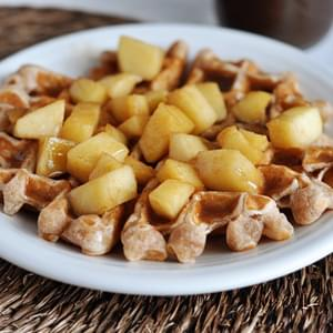 Apple Cinnamon Waffles with Cinnamon Syrup