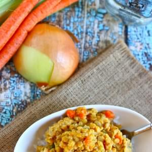 Gingery Red Lentils & Rice