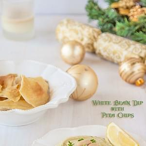 White Bean Dip with Sea Salt Pita Chips