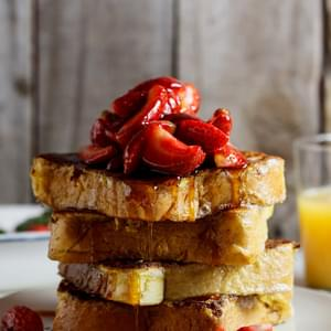 Lemon French toast with fresh strawberries