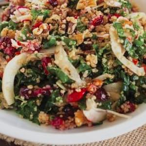 Roasted Garlic Kale & Quinoa Salad With Cranberries