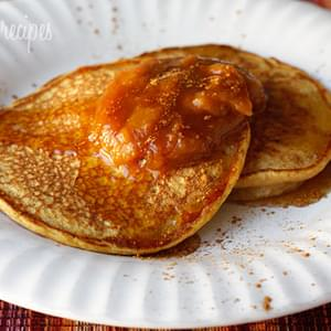 Pumpkin Spice Pancakes with Pumpkin Butter