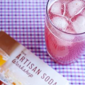 Plum Vanilla Syrup and Soda