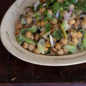Pan-fried Chickpea Salad