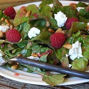 Mixed Greens & Goat Cheese w/ Raspberry Vinaigrette