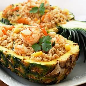Pineapple Shrimp Brown Fried Rice