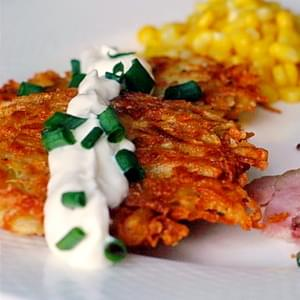 Garlic Parmesan Potato Latkes