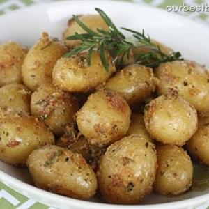 Garlic-Rosemary Roasted Baby Potatoes