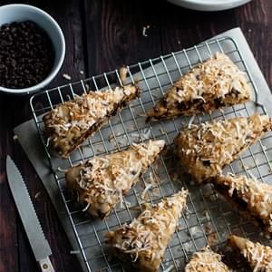 Chocolate Coconut Scones