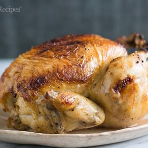 Honey Glazed Lemon Roast Chicken