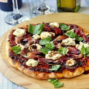 Sundried Tomato Almond Pesto Pizza