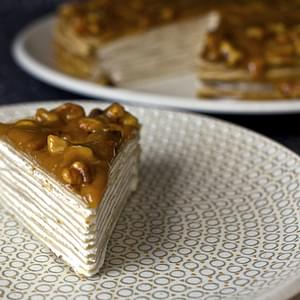 Banana Bread Crepe Cake With Butterscotch