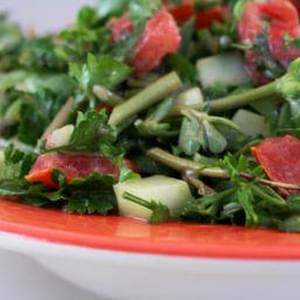 Chopped Middle Eastern Salad with Purslane