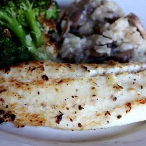 Lemon and Garlic Broiled Tilapia