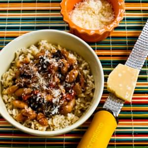 Mushroom, White Bean, and Tomato Stew with Parmesan