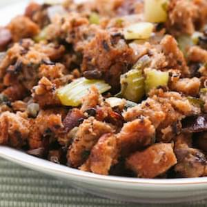 South Beach Diet Friendly Whole Wheat and Mushroom Stuffing with Sage and Thyme