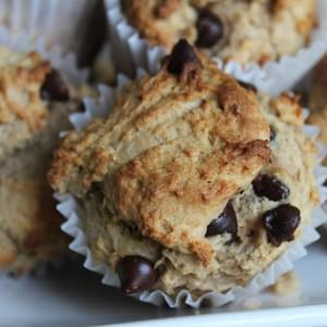 Banana, Peanut Butter and Chocolate Chip Muffins