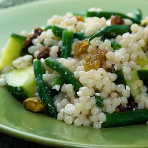 Israeli Couscous with Green Beans, Feta and Pistachios