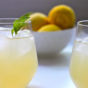 Basil Lemonade Cocktails