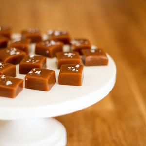 Fleur de Sel (Sea Salt) Caramels with Vanilla Bean