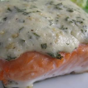 Asiago Baked Salmon
