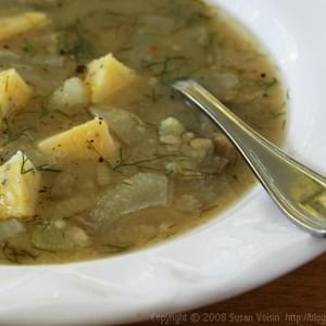 Dried Fava Bean and Fresh Fennel Soup