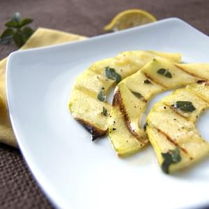 Grilled Lemon-Mint Zucchini