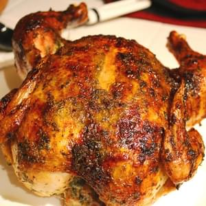 Honey Roasted Chicken with Lemon-Tarragon Butter
