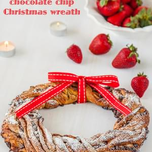 Strawberry & Chocolate Chip Christmas Wreath