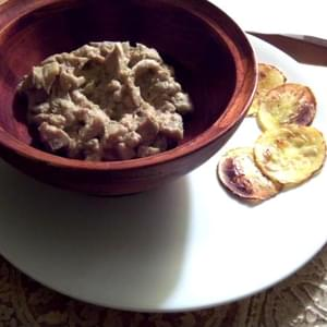 Baba Ghanoush with Squash Chips