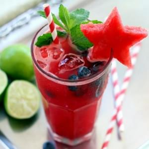 Watermelon Blueberry Mojito - The Perfect Sundowner {no sugar added)