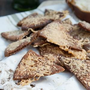 Whole Wheat Garlic Parmesan Pita Chips