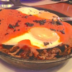 Fried Eggs And Carnitas Hash